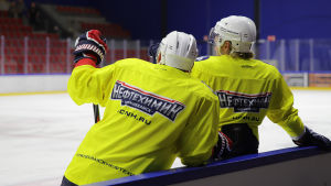 KHL jääkiekkojoukkue HK Neftehimik harjoittelee Imatran jäähallissa