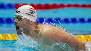 Tamas Kendresi osallistui Etelä-Korean MM-uinneissa 200 metrin perhosuintiin.