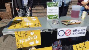 Oikeutta eläimille kampanjoi häkkikanaloita vastaan #häkitön