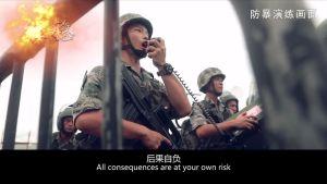 Kiinan asevoimien julkaisema propagandavideo.
