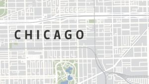 Chicagon kaupunkikartta.
