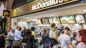McDonald's Lontoossa.