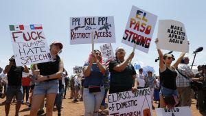 El Pasossa vastustettiin presidentti Donald Trumpin vierailua kaupunkiin.