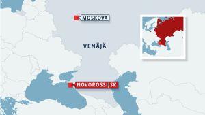 Venäjän kartta.