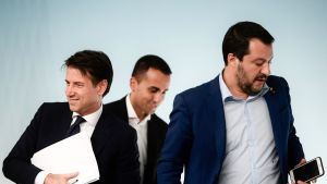 Giuseppe Conte, Luigi Di Maio ja Matteo Salvini