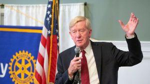 Republikaanien esivaaleihin ehdolle lähtevä Bill Weld puhumassa rotaryklubilla Manchesterissä, New Hampshiressä heinäkuussa 2019.