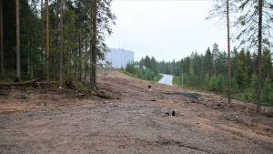 Rovaniemen uuden uimahallin paikka Ounasvaaralla