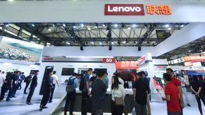 Lenovon osasto messuilla.