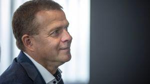 Kokoomuksen puheenjohtaja Petteri Orpo puhui kokoomuksen puoluejohdon ja eduskuntaryhmän johdon kesäkokouksessa Turussa tiistaina 20. elokuuta.