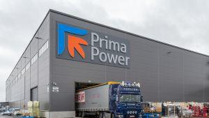 Finn-Powerin eli Prima Powerin tehdas Seinäjoella.