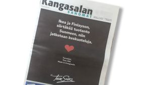 Tam-Silkin mainos Kangasalan Sanomat -lehdessä 21.8.2019