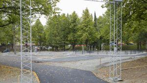 Kuopion Niiralassa sijaitsevan liikennepuiston peruskorjausta.