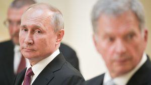 Vladimir Putin Helsingissä 21. elokuuta.