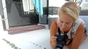 Purjehtijat kuvasivat mereltä löytämiään laavakiviä lähellä Tongaa eteläisellä Tyynellämerellä.