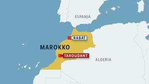 Marokon kartta.