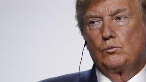 Yhdysvaltojen presidentti Donald Trump G7-kokouksessa 26. elokuuta Ranskassa.