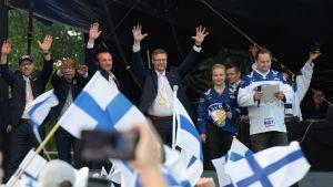 Jukka Jalonen, torijuhla Helsingissä 2019