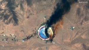 Satelliittikuva laukaisualustasta Semnanissa Iranissa.