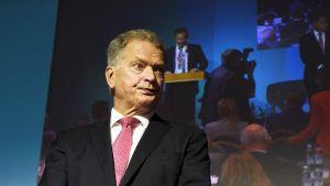 Tasavallan presidentti Sauli Niinistö puhui Itämeren alueen ja arktisen alueen turvallisuushaasteista EU-maiden ulkoasiain- ja puolustusvaliokuntien johtajien kokouksessa.