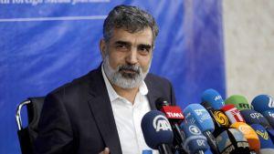 Iranin atomienergiajärjestön edustaja Behrouz Kamalvandi.