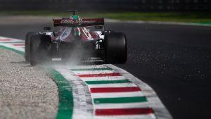Kimi Räikkönen ajaa Italian GP:ssä.