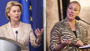 Ursula von der Leyen ja Jutta Urpilainen.