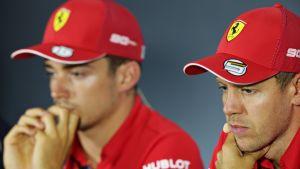 Charles Leclerc ja Sebastian Vettel