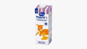 Valio Tuuti® 1 äidinmaidonkorviketta 1 litran pakkauksessa.