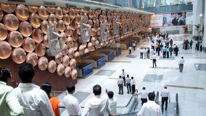 Indira Gandhi lentokenttä Delhissä..
