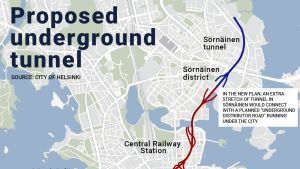 Proposed underground tunnel