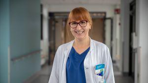 Anastassia Povalishina on erikoistumassa sisätautilääkäriksi Seinäjoen keskussairaalassa.