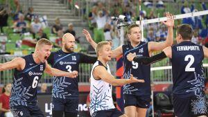 Antti Ronkainen, Antti Siltala, Lauri Kerminen, Tommi Siirilä ja Eemi Tervaportti.