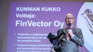 Kuvassa Finvectorin toimitusjohtaja Timo Ristola.