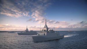 Pohjanmaa-luokan sotalaivan havainnekuva