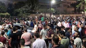 Hallituksen vastainen mielenosoitus Kairossa 21. syyskuuta.