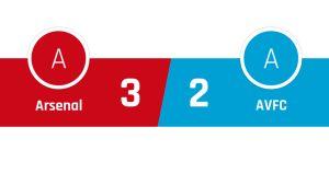 Arsenal - Aston Villa 3-2