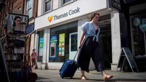 Thomas Cook -yhtiön toimisto Lontoossa.