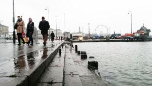Myrsky nosti veden kauppatorille Helsingissä itsenäisyyspäivänä 2015.