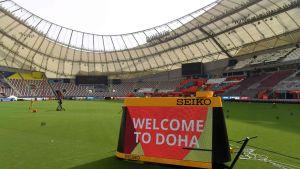 kuvaa Khalifa-stadionin kentältä.