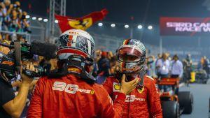 Charles Leclerc ja Sebastian Vettel, Ferrari
