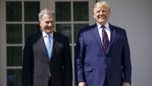 Presidentit Sauli Niinistö ja Donald Trump.