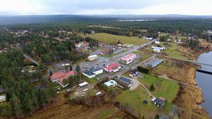 Savukosken kirkonkylä ilmasta