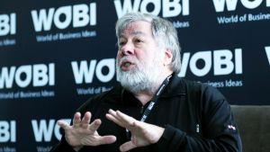 Steve Wozniak World of Business Ideas -tapahtumassa Bogotassa kesäkussa 2018.