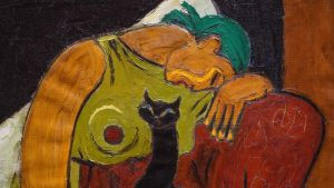 Amos Rex, Birger Carlstedt, Nainen ja kissa