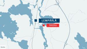 Ammattiopisto Tredun ja lukion yhteinen koulutuskeskus sijaitsee Ahtialanjärven rannalla, noin kilometri Lempäälän keskustasta itään.