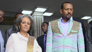 Etiopian presidentti Sahle-Work Zewde ja Etiopian pääministeri Abiy Ahmed.