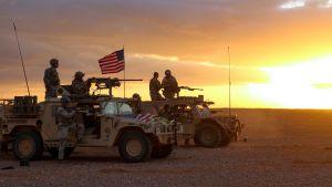 USA:n joukkoja Al-Tanfissa, Etelä-Syyriassa.