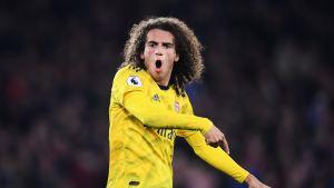 Arsenalin Matteo Guendouzi ei ollut tyytyväinen joukkueensa esitykseen.