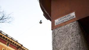 Liisankadun katukyltti Helsingin Kruununhaassa