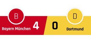 Bayern München - Dortmund 4-0